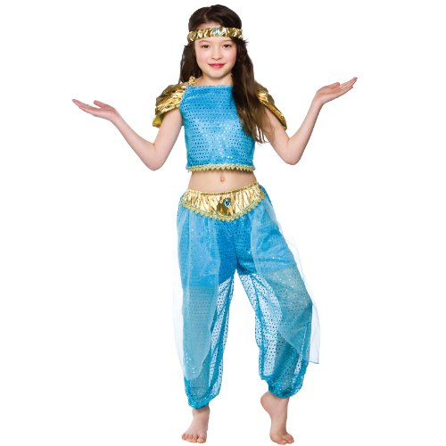 Girls Arabian Princess Costume Fancy Dress Up Party Halloween Outfit Kids Medium (Arabian Themed Dresses)