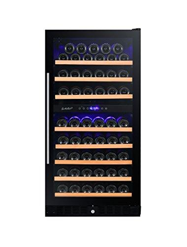 RW270DRG 89 Bottle Wine Cooler, Dual Zone, Smoked Glass Door by Smith & Hanks