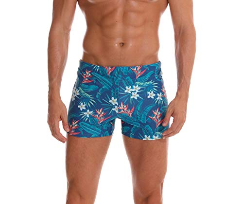 (SALENT Men's Swim Trunks Shorts Athletic Swimwear Briefs Boardshorts (XL, Green))