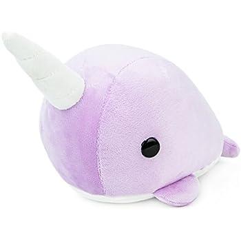 Bellzi Purple Narwhal Stuffed Animal Plush Toy - Adorable Plushie Toys and Gifts! - Narrzi