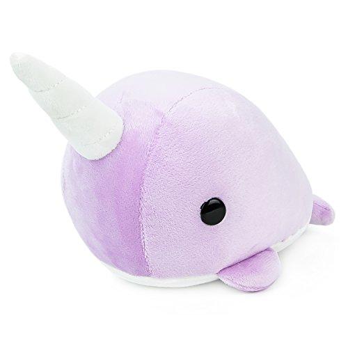 Bellzi Purple Narwhal Stuffed Animal Plush Toy - Adorable Toy Plushies Gifts! - Narrzi
