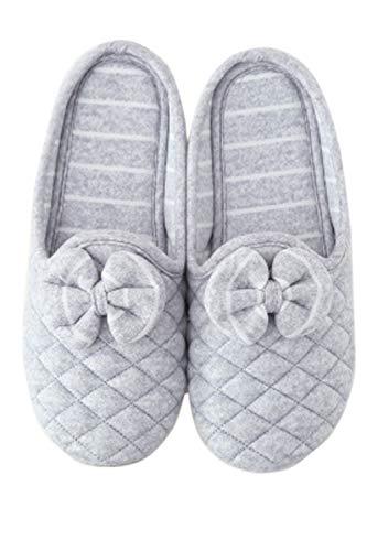 Douillet Grey Antidérapants Glisse Pantoufles Les sur Femme Arc Pantoufles qw7B8Ct4
