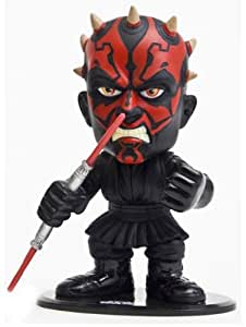 Joy Toy 2056 - Figura de Darth Maul de Star Wars con la cabeza móvil (14 x 17 cm) - Star Wars: Darth Maul Headknocker