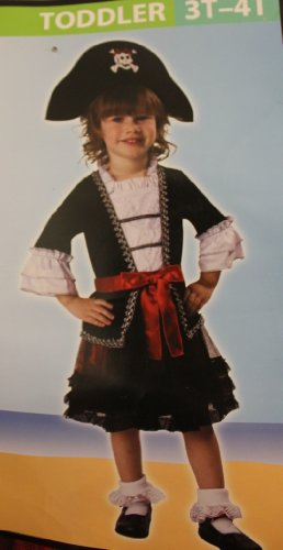 ROYAL PIRATE COSTUME FOR LITTLE GIRLS - 3T-4T (Little Girls Pirate Costume)