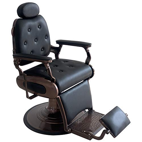 Professional Hydraulic Barber Chair,Salon Chair Hydraulic Equipment Hairdressing For Fashion Beauty Hair Salon Tattoo (Black With Rosegold)