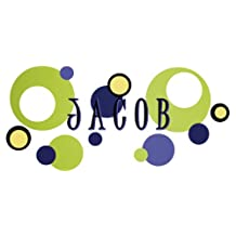 Wall Wear Decals WW-135-BN Jacob Name Decal