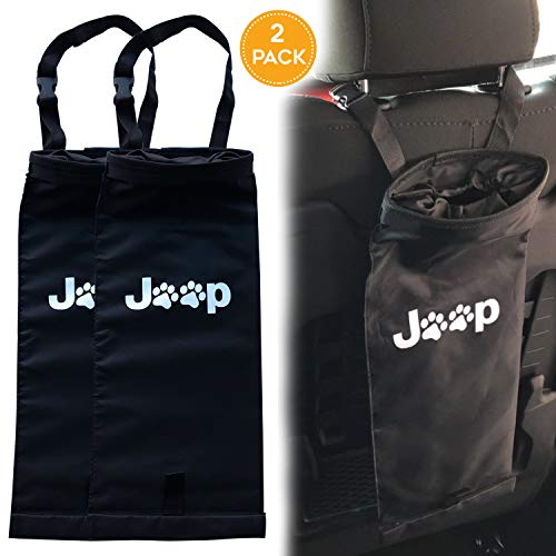 Rorex (2 Pack Jeep Wrangler,Cherokee, Compass, Liberty,Renegade, Accessories JK Dog Paw Hanging Trash Bag, Storage Bag, Organizer, Trash/Garbage Can