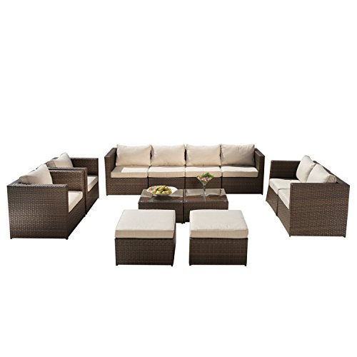 Supernova 12 pcs outdoor rattan wicker sofa sectional Supernova furniture