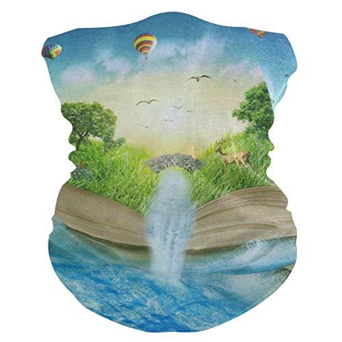 Magic Opened Book Life Of Tree Headband Womens Bandana Mens Balaclava,Neck Warmer,Face Mask,Sweatband Hatliner