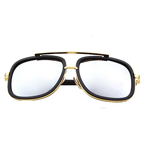 G&T Mens Fashion Rectangular metal Frame Dazzle Colour - Price India Uv400 In Sunglasses