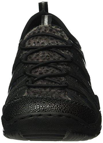 Rieker L0573, Baskets Basses Femme Noir (Black/Grau/Leo/Navy/Schwarz/Schwarz/00)