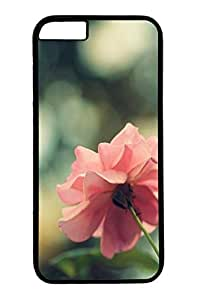 Personalized Protective Cases for New iPhone 6 PC Black Edge - Pink Rose1