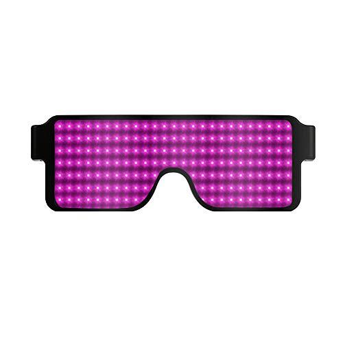 a16de7e0d3 Halloween Luz gafas Navidad Brillantes Para Fiesta Niños Led Y Aviador  Regalo Led Gafas De Púrpura Con Sol 7pp Adultos Luminosas ...