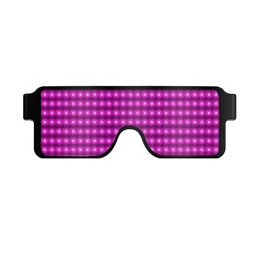 (DDKK 2019 Light Up Glasses,Neon Party Supplies 20 Pack LED Glasses,6 Color LED Sunglasses Shutter Shades Light Up Plastic)