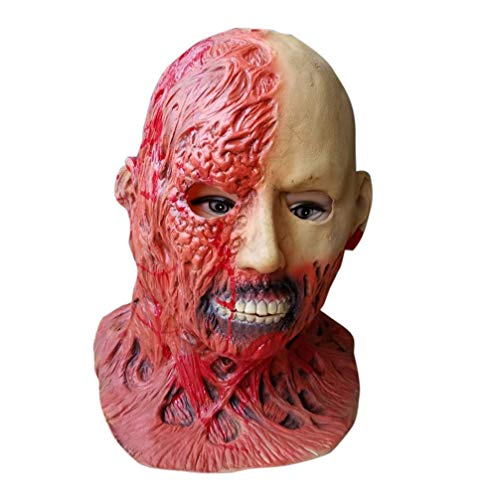 Halloween Zombie Mask Decaying Zombie Mask, Natural Latex Suitable for Most Men and Women Halloween Full Head Horror Masks Environmental Latex, Visibility & Breathability, TLT Retail -