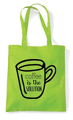 Is Coffee Lime The Bag Shopper Tote Solution rraTdwq