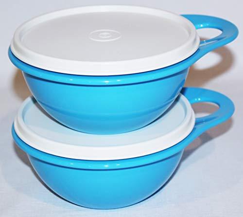 Tupperware Extra Mini Thatsa Bowl Set of 2 Blue With White Seal 2cups