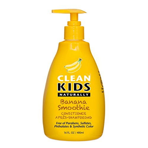 Clean Kids Naturally, Detangler, Banana Smoothie, 16oz.