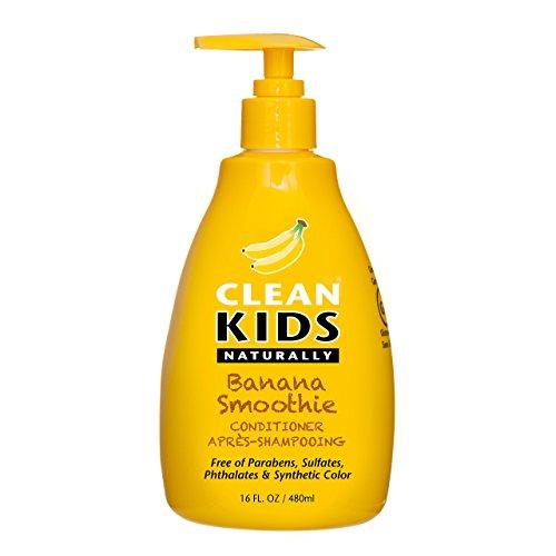 Clean Kids Naturally, Detangler, Banana Smoothie, 16oz. (Boyzz Only No Nonsense Hair & Body Wash)