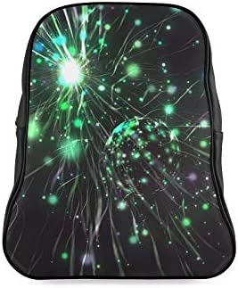 Explosion Sparks Magic Flare Particle Glittering Bags For School Girl Daypack Casual Bag Print Zipper Students Unisex Adult Teens Gift