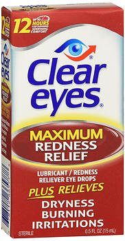 Clear Eyes Maximum Redness Relief Eye Drops - 0.5 oz, Pack of 6