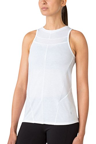 MPG Women's Julianne Hough Collection Promenade Mesh Tank M White