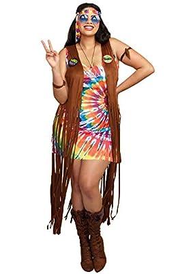 Dreamgirl Women's 1960's Tie-Dyed Hippie Hottie Costume
