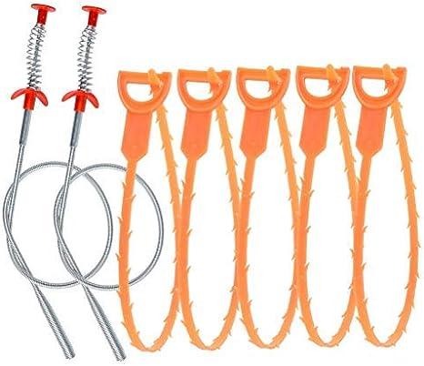 10 St/ück Abfluss-Verstopfungsentferner Abfluss Haare Weasel Waschbecken Schlange Perfekt zum Entfernen von Haaren Dusche Waschbecken Badewanne Haarentfernung