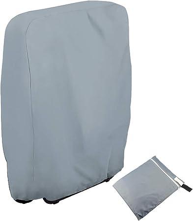 CHEYLIZI Housse de chaise pliante pour balcon, véranda, jardin, extérieur pliable, housse de chaise inclinable avec tissu Oxford 210D anti UV zéro