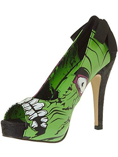Iron Fist, Scarpe col tacco donna verde Green