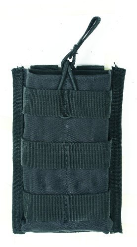 (VooDoo Tactical 20-8584001000 M4/M16 Open Top Mag Pouch with Bungee System, Black, Single)
