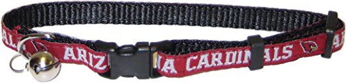 NFL CAT COLLAR. - ARIZONA CARDINALS CAT COLLAR. - Strong & Adjustable FOOTBALL Cat Collars with Metal Jingle Bell (Collar Arizona Cardinals)