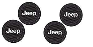 Jeep Logo Heavy Duty Rubber Coaster 4 pcs Set
