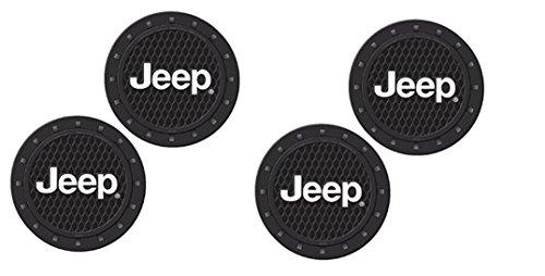- Jeep Logo Heavy Duty Rubber Coaster 4 pcs Set