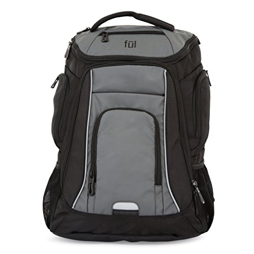 ful Cedrick Laptop Backpack, Black, One Size by Ful
