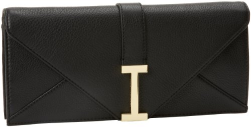 Isaac Mizrahi – Handbags Women's Ingrid IM92041-000 Clutch,Black Leather,One Size, Bags Central