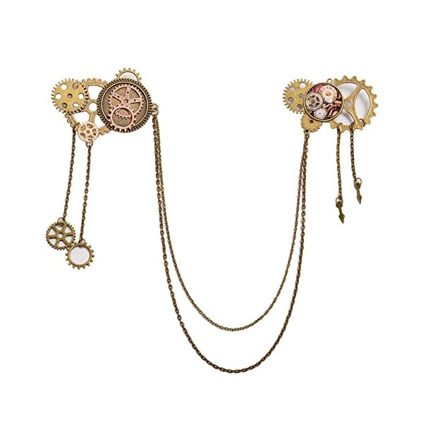 BLESSUME Unisex Steampunk Brooch Lapel Pin 3