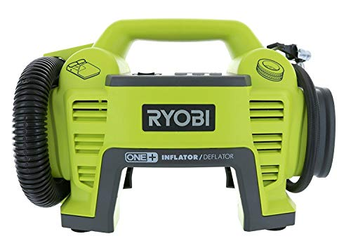 Ryobi P731 One+ 18v Dual Function Power Inflator/Deflator Cordless Air Compressor Kit w/ Adapters (Battery Not Included, Tool Only) (Renewed)