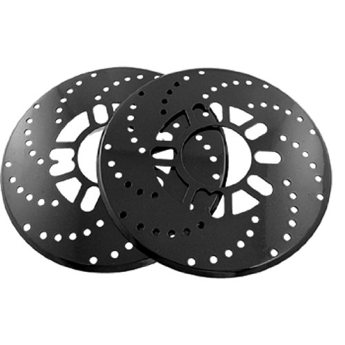 uxcell 2 Pieces Car Auto Brake Rotor Cross Drilled Covers Black