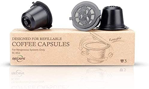 Nespresso RECAPS Reusable Capsules Stainless Steel Refillable Pod Compatible
