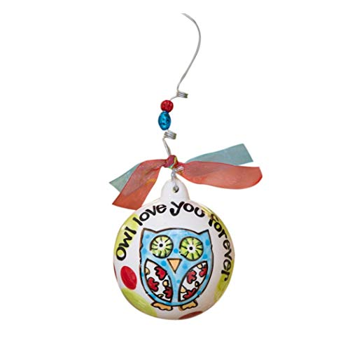 Glory Haus Owl Love You Forever Ball Ornament, 4 by 4-Inch