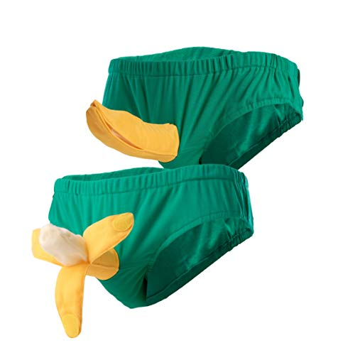 wellin international Hilarious 3D Banana Underwear Costume, Sexy Banana Halloween Costume Briefs, Funny Couple Gift, for Him]()