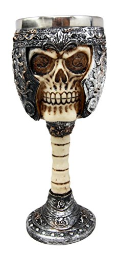 Atlantic Collectibles Roman Centurion General Helmet Skull Wine Drink Goblet Chalice Cup Figurine 6oz