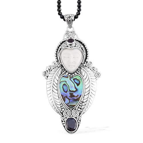 925 Sterling Silver Oval Blue Sapphire Multi Gemstone for sale  Delivered anywhere in USA
