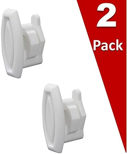 (2 Pack) EXPWD12X10304 for GE Dishwasher Top Rack Slide End Cap Clip Replaces WD12X10304, PS2370502 AP4484666 WD12X344, WD12X0344, WD30X93, WD30X97, WD12X10238