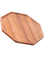 Table Tray, Multifunctional Wooden Serving Tray for Fruit Tray for Breakfast Tray for Dining Tray for Beverage Tray(25 * 25 * 2cm)