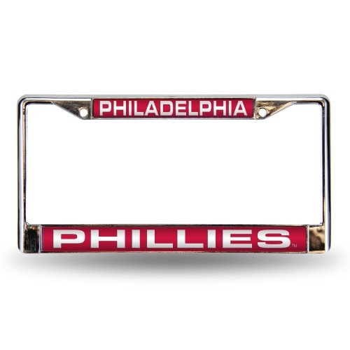 MLB Philadelphia Phillies Laser-Cut Chrome Auto License Plate Frame