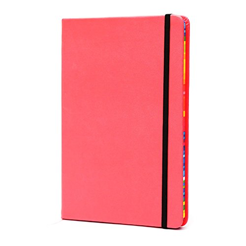 BIOBAY Classic Ruled Travel Notebook | Hardcover Writing Journal and Diary – Premium Lined Paper and Durable Design - 160 pages - Assorted Fluorescent Colors
