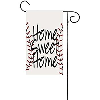 "Home Sweet Home Baseball Garden Flag 12""x18"""