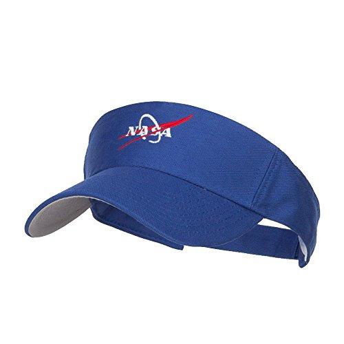 (NASA Logo Embroidered Sports Visor - Royal OSFM)